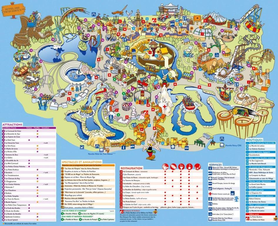 Парк Астерикс карта